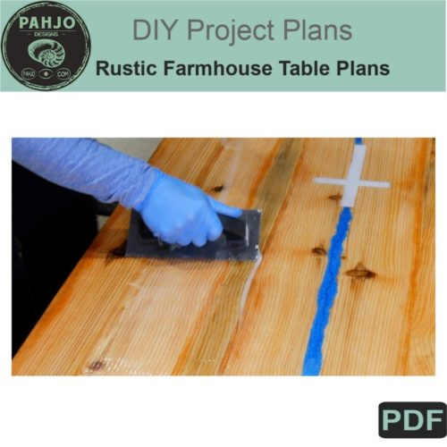 DIY rustic farmhouse table plans