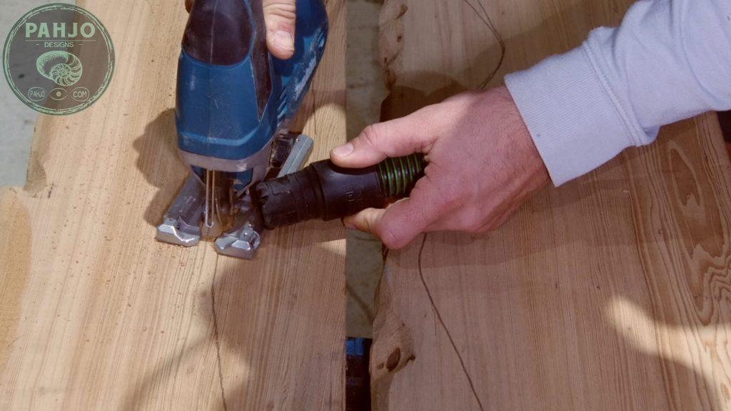 Epoxy Bar Top using Reclaimed Wood Jigsaw River Table