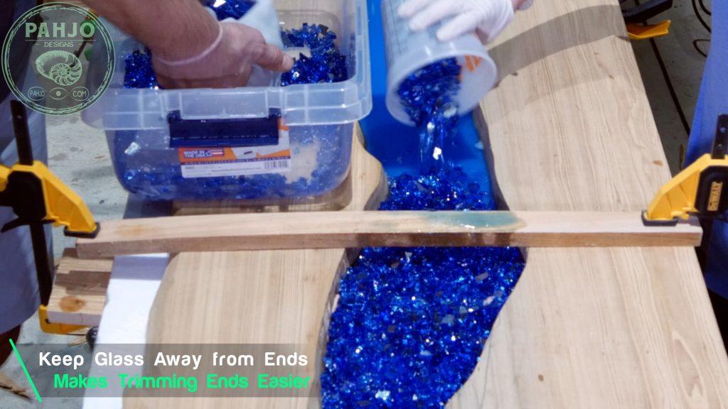 Epoxy Bar Top using Reclaimed Wood fire glass