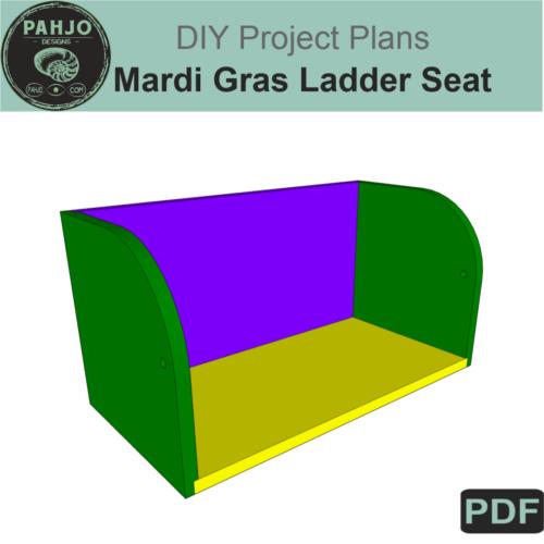 Mardi Gras Ladder Seat DIY Plans