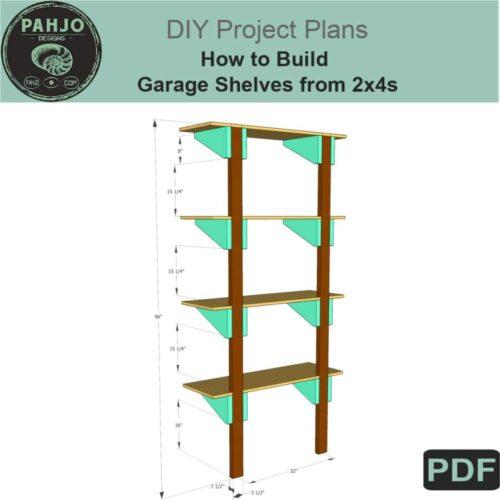 Garage Shelving DIY Plans