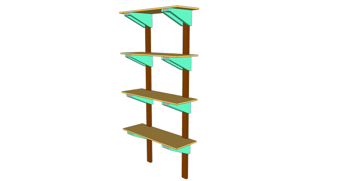 DIY Garage Shelves from 2x4s Plans