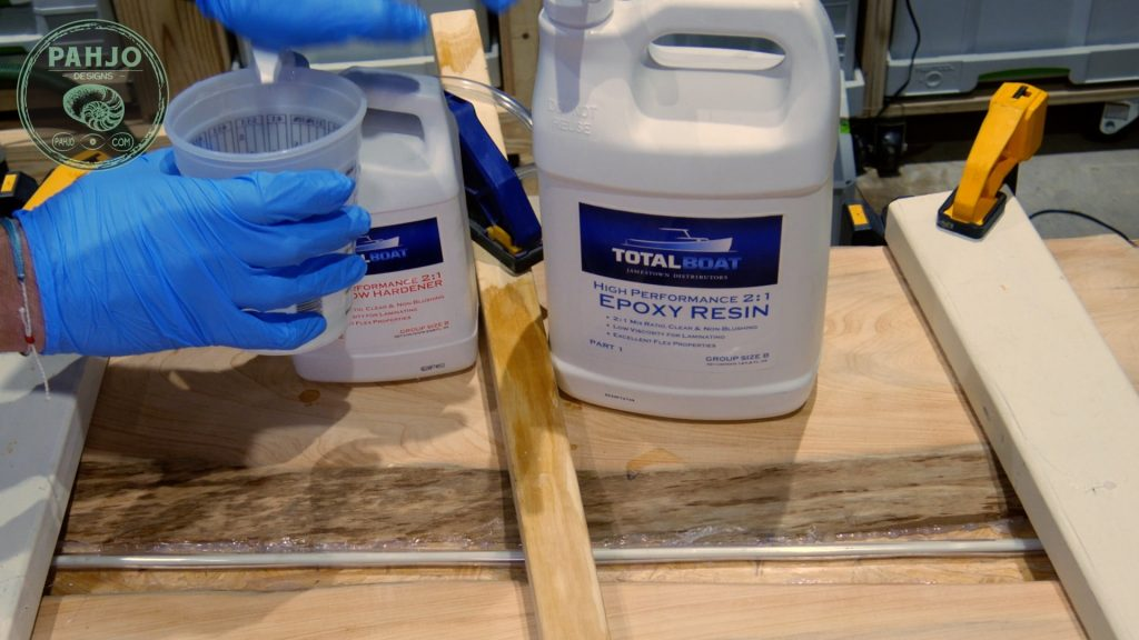 Total Boat Epoxy Resin Mixing