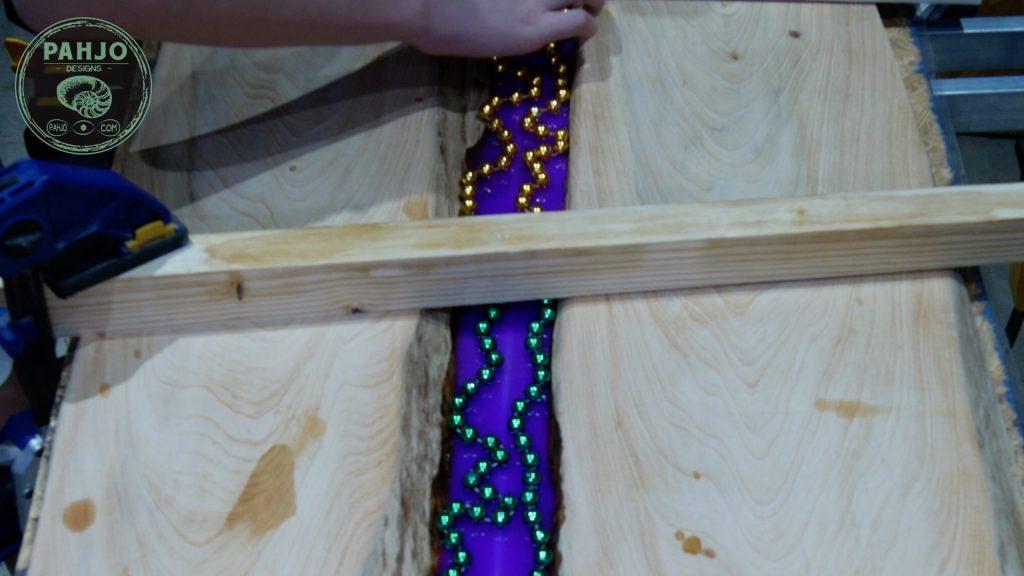 Embed Mardi Gras Beads in Resin