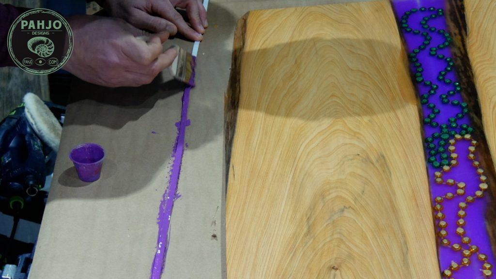 led light strips in epoxy resin