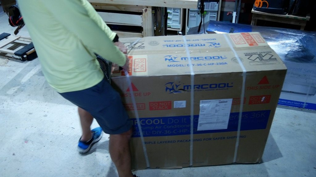 MRCOOL DIY 36K Mini Split unboxing