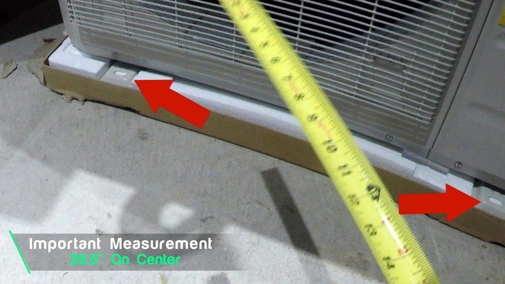 MRCOOL 36K DIY mini split outside condenser mounting bracket