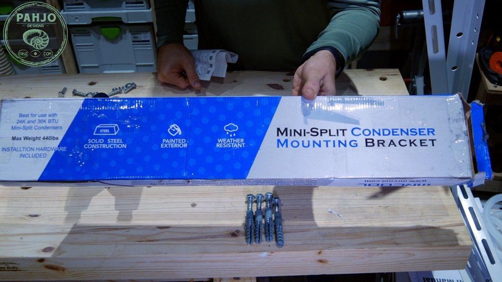 DIY Mini Split Install Outside Condenser Mounting Bracket