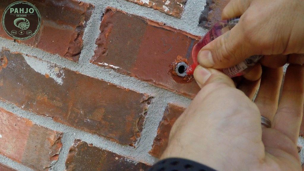DIY Mini Split Install Outside Condenser on Brick seal hole
