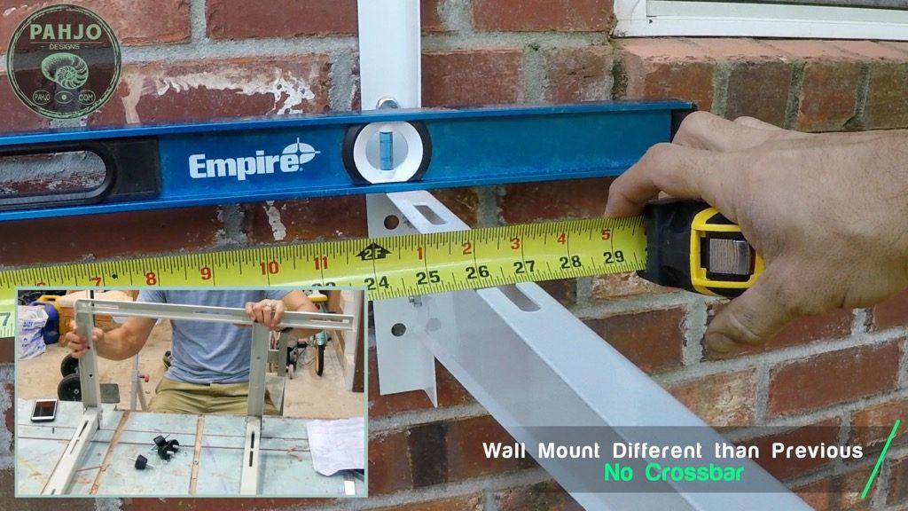 DIY Mini Split Install Outside Condenser unit Mounting Bracket spacing