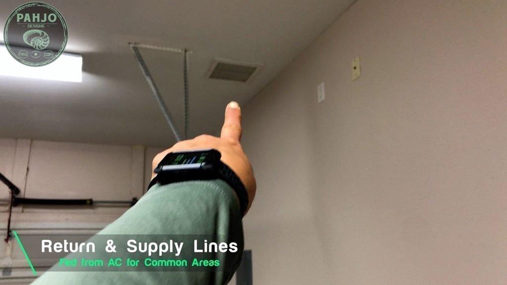 Spray Foam Attic Garage Return Line