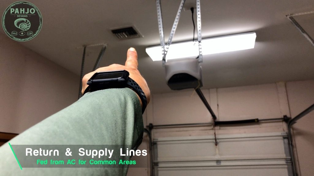 Spray Foam Attic Garage Supply Line