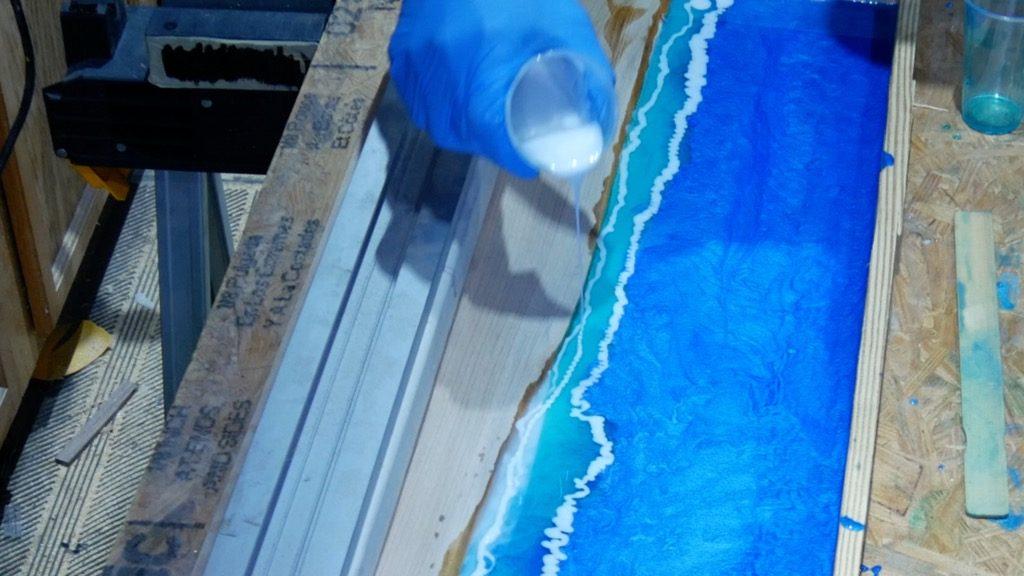 alcohol ink resin ocean waves