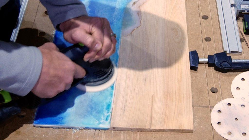 sanding wood resin beach art festool ro125