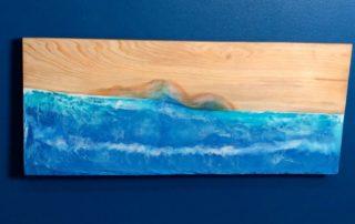 DIY Folding Wall Desk - Wood Resin Beach Art Tutorial