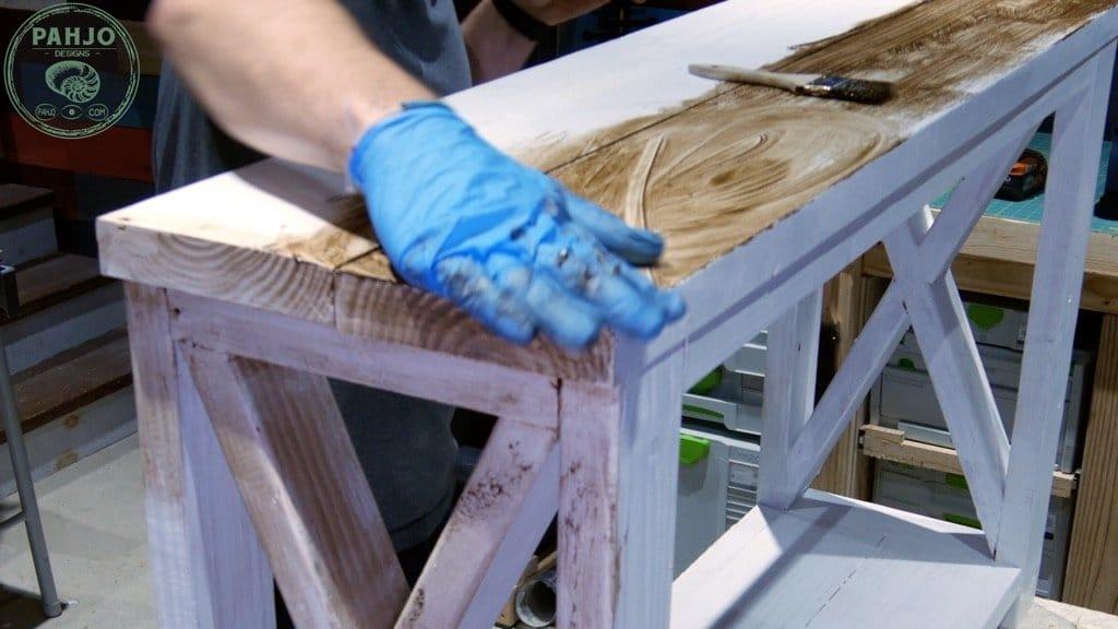 furniture distressing technique using wax