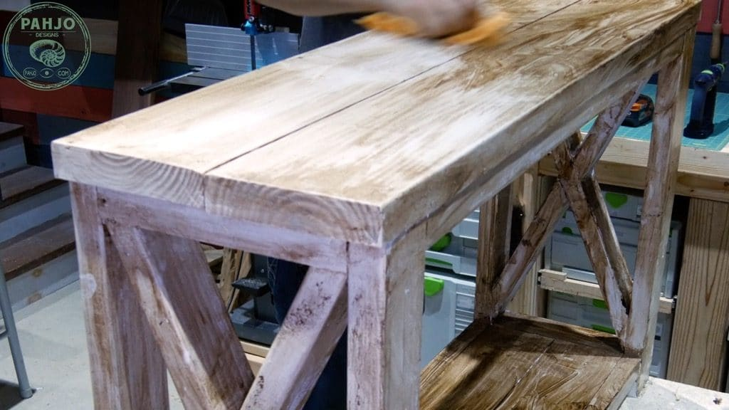 distressing furniture with wax
