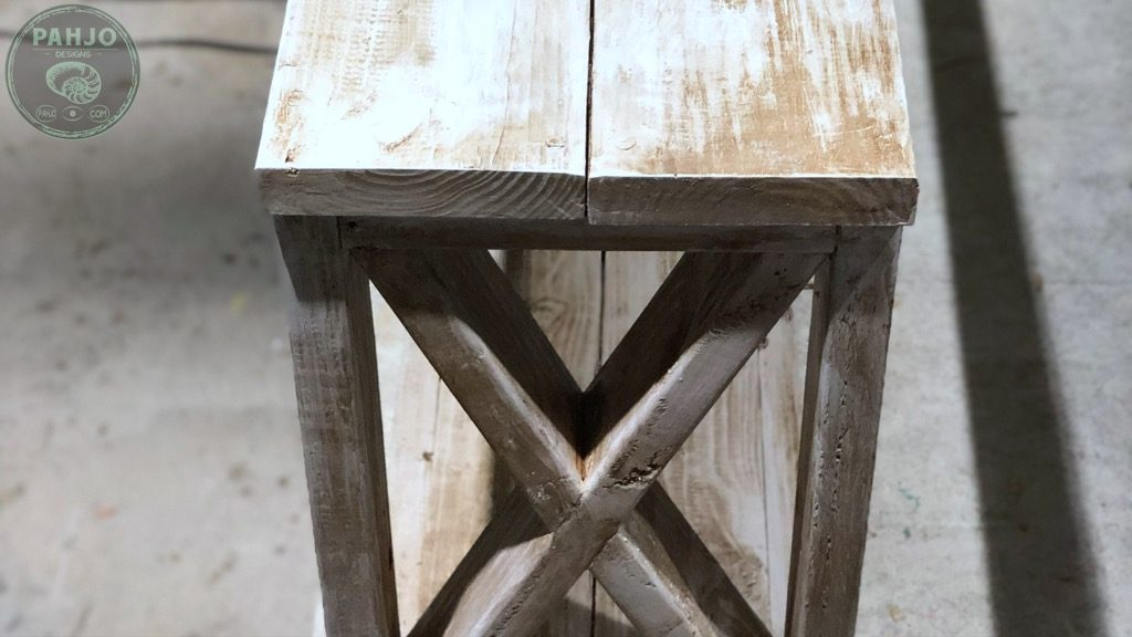 distress painted wood furniture with wax