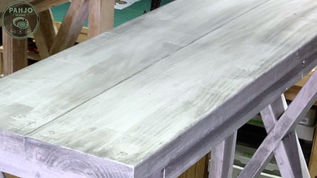 distress painted wood furniture with stain