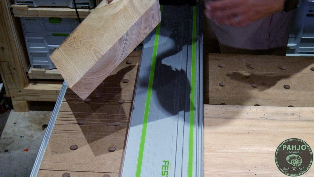 cross cut wood slab on mft3 table