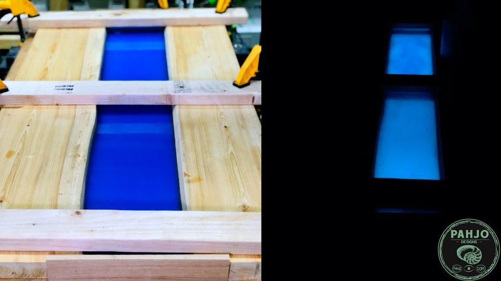 epoxy river glow table