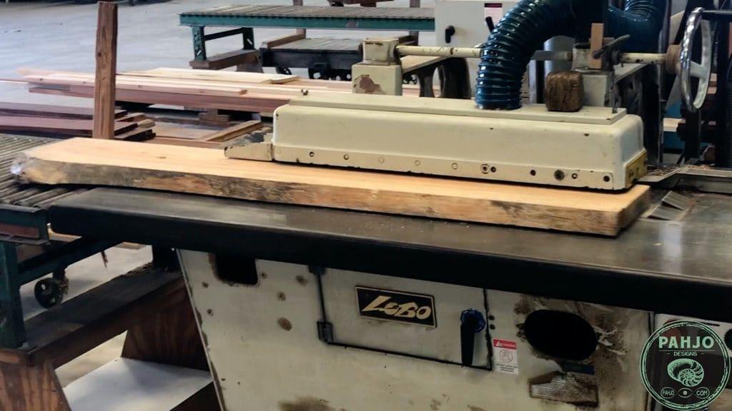 epoxy river desk milling wood