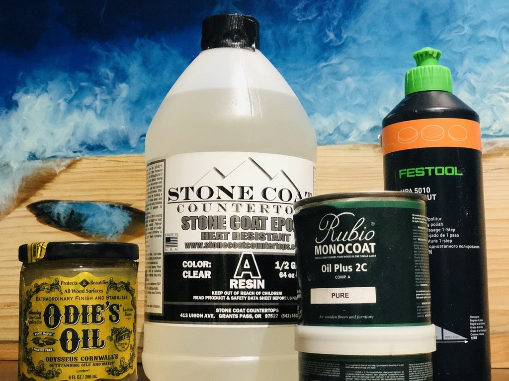 best finishes for epoxy table top