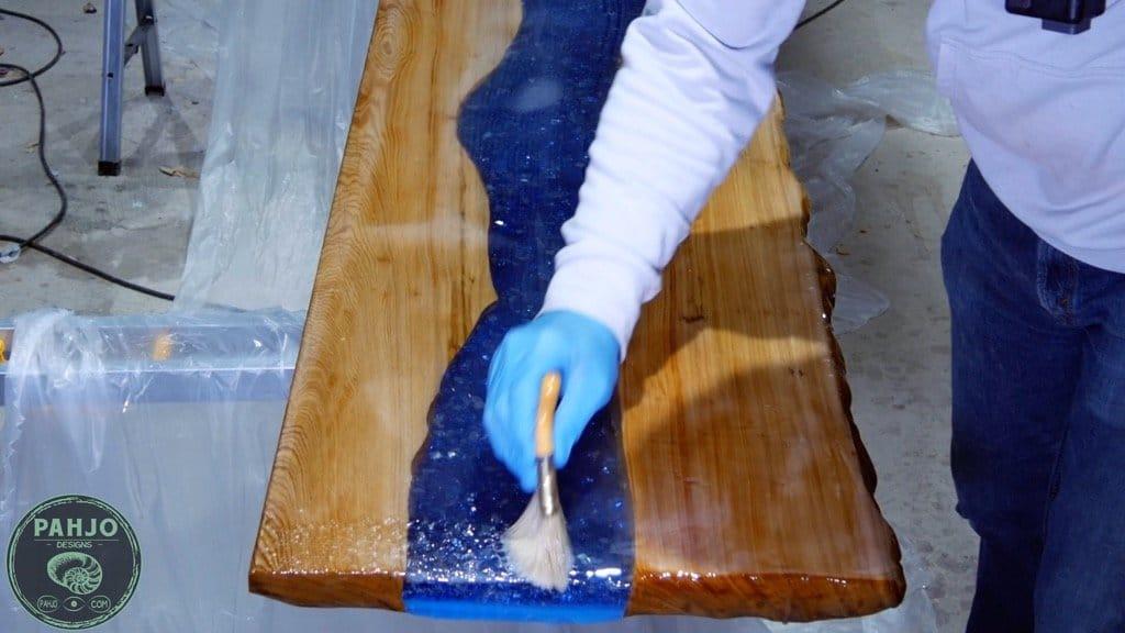 stonecoat countertop epoxy chop brush