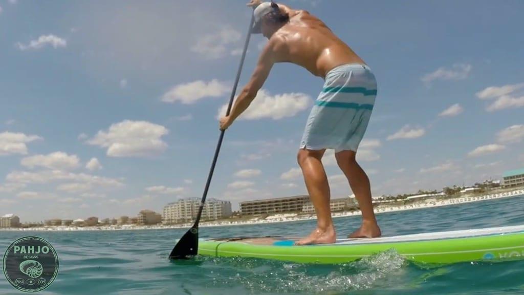 paddle boarding in Destin, Florida