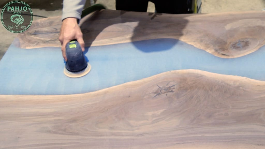 epoxy wood sanding technique