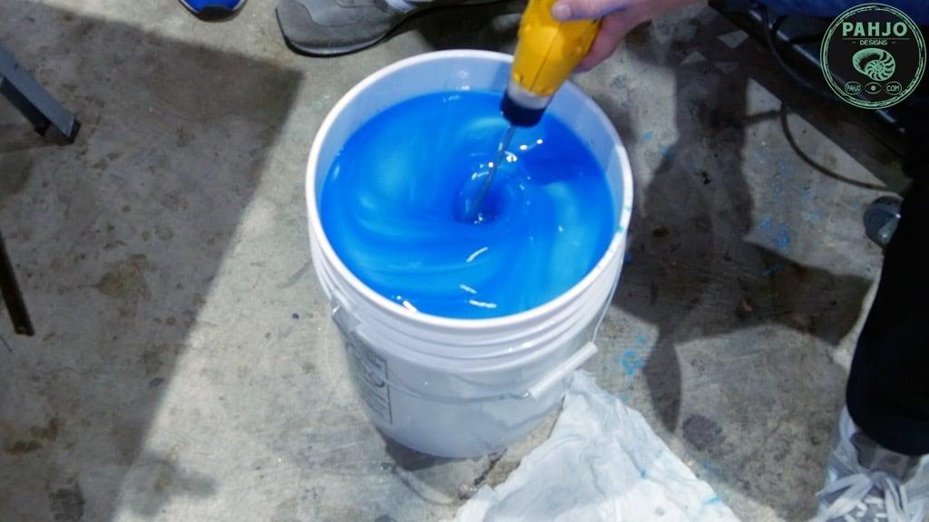 mix glow powder with epoxy