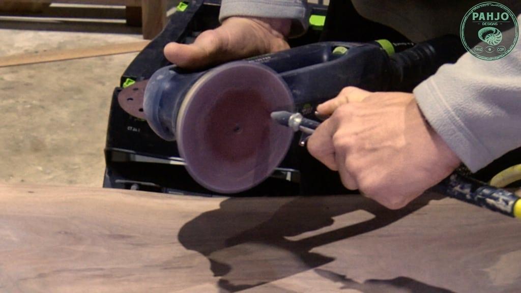 epoxy resin sanding technique