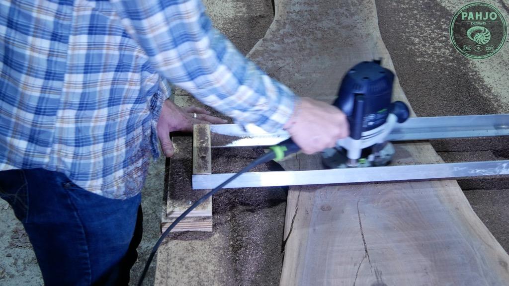 flattening large wood slabs