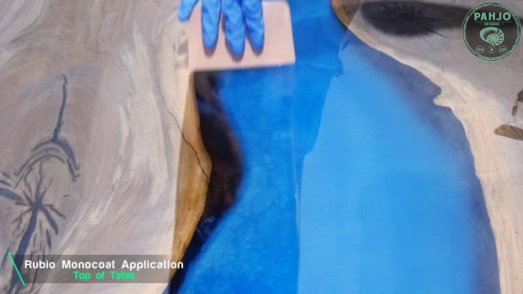 apply rubio monocoat on epoxy wood table