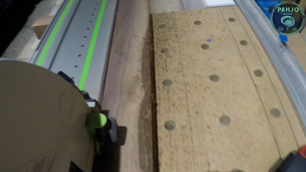 cut walnut wood with festool TS75