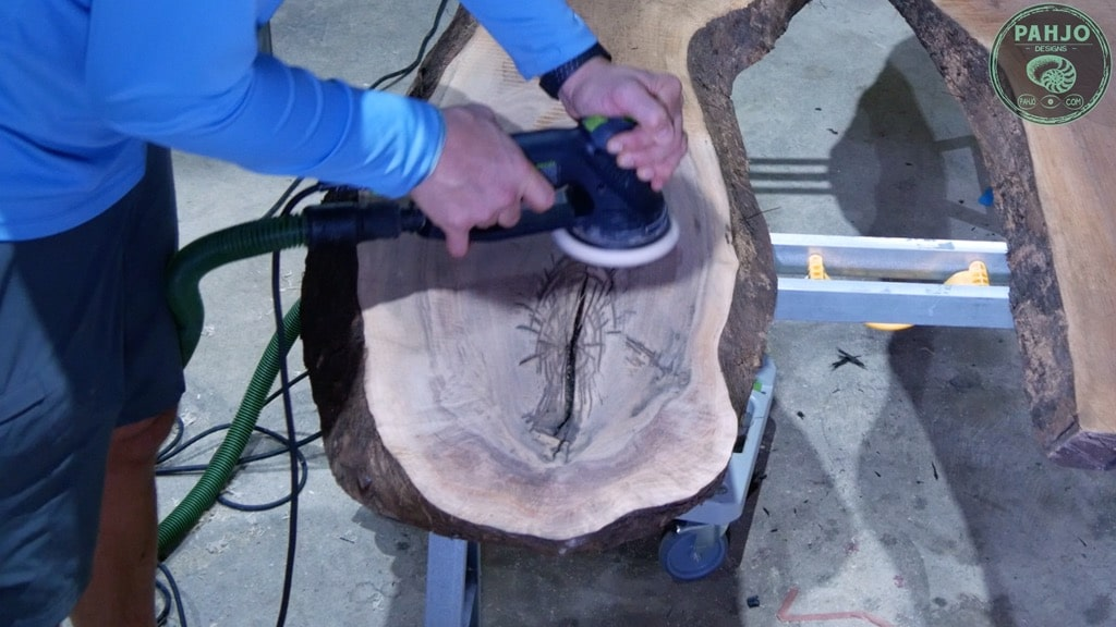 wood sanding technique