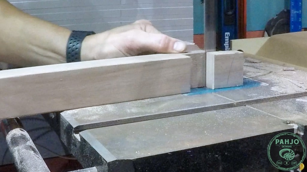 bandsaw half lap wood joint