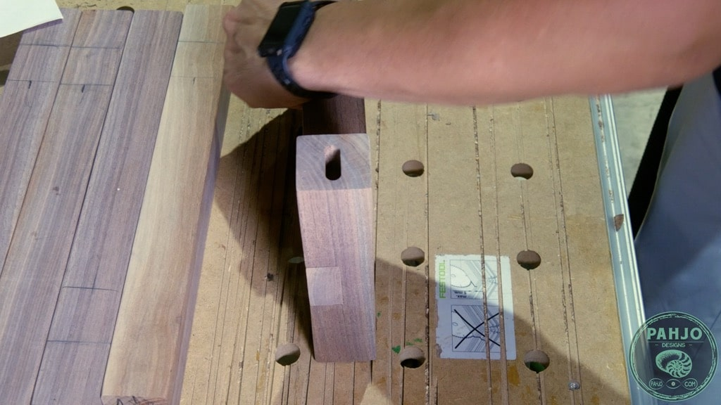 wood bench festool domino joinery