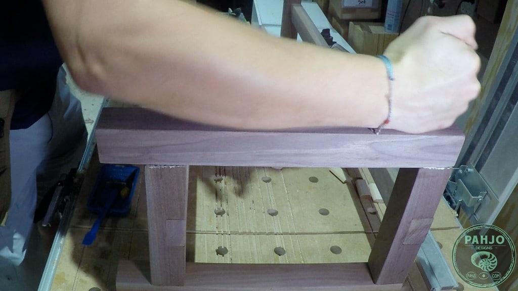 DIY Farmhouse Bench Seat bottom