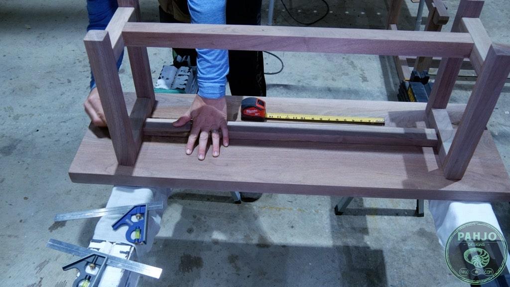 attach bench bottom to bench seat