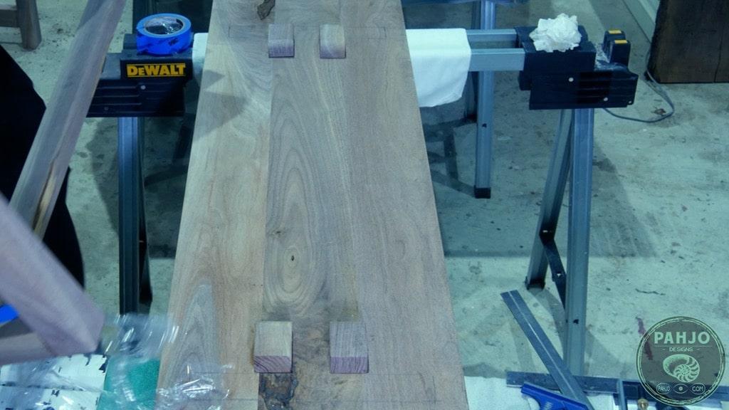 DIY Dining Table Bench Seat Underside