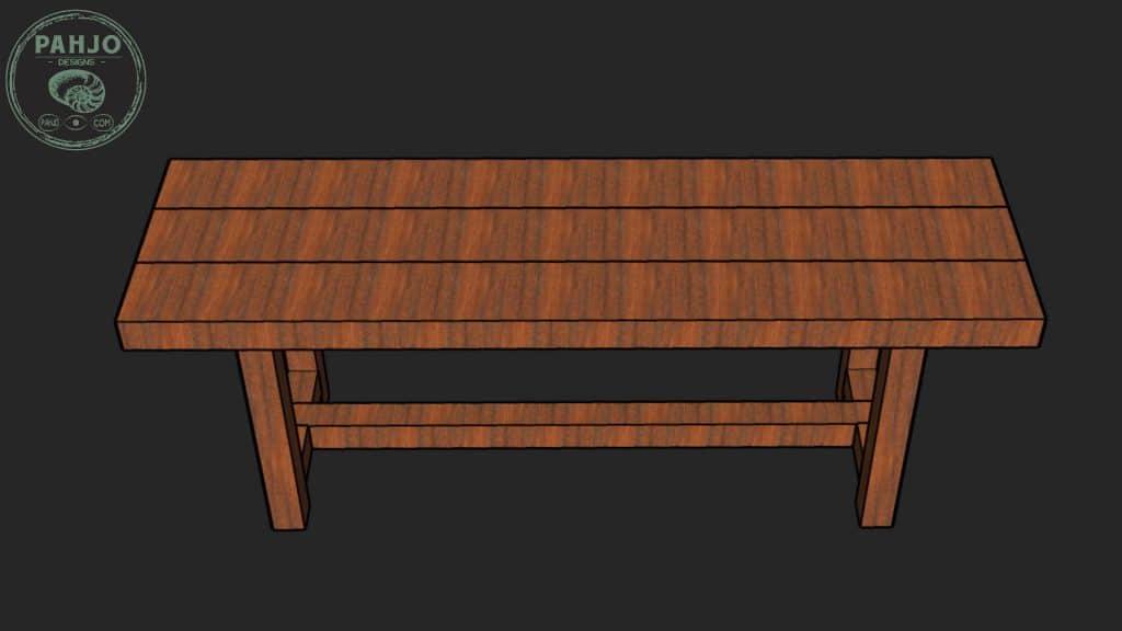 DIY Farmhouse Bench Seat Design