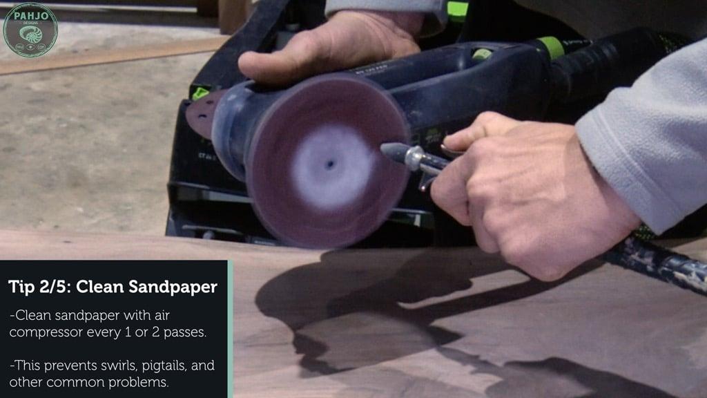 Sanding Epoxy Resin Clean Sandpaper