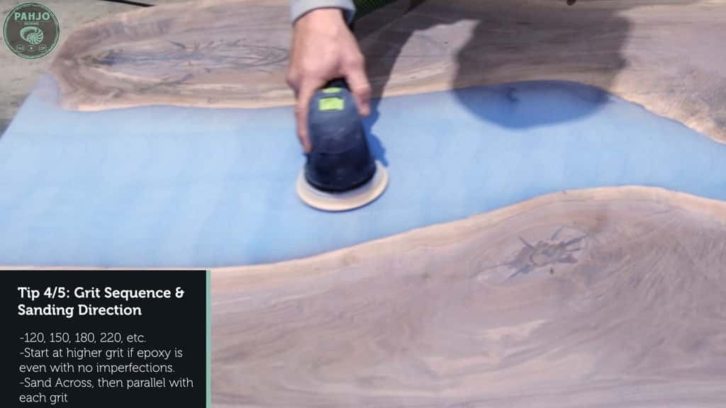 epoxy resin sanding direction