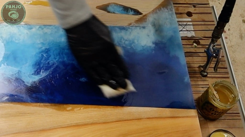apply odies oil on epoxy