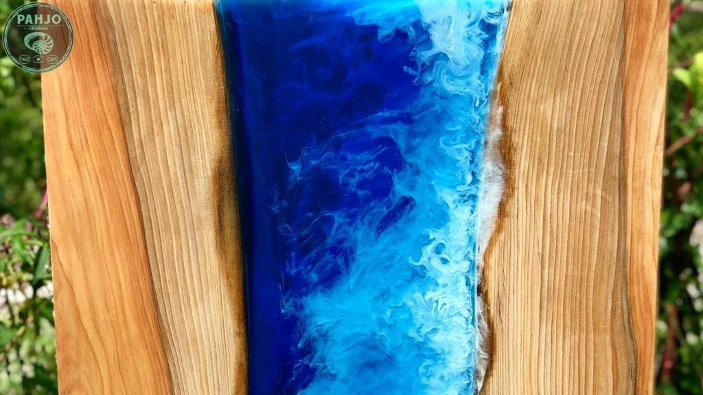 matte finish on epoxy ocean art