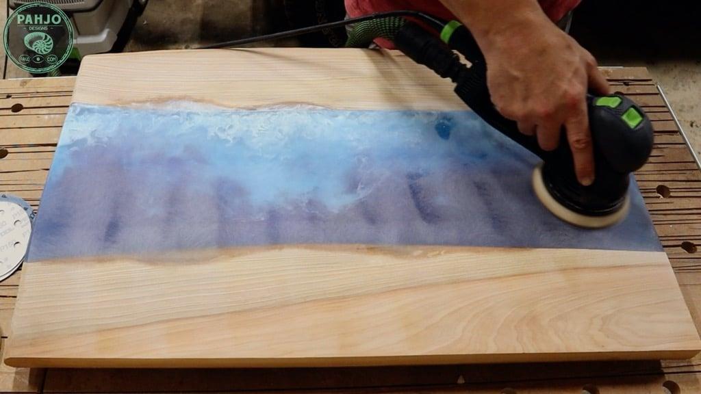 sand epoxy for matte finish