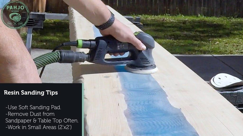 epoxy resin sanding tips