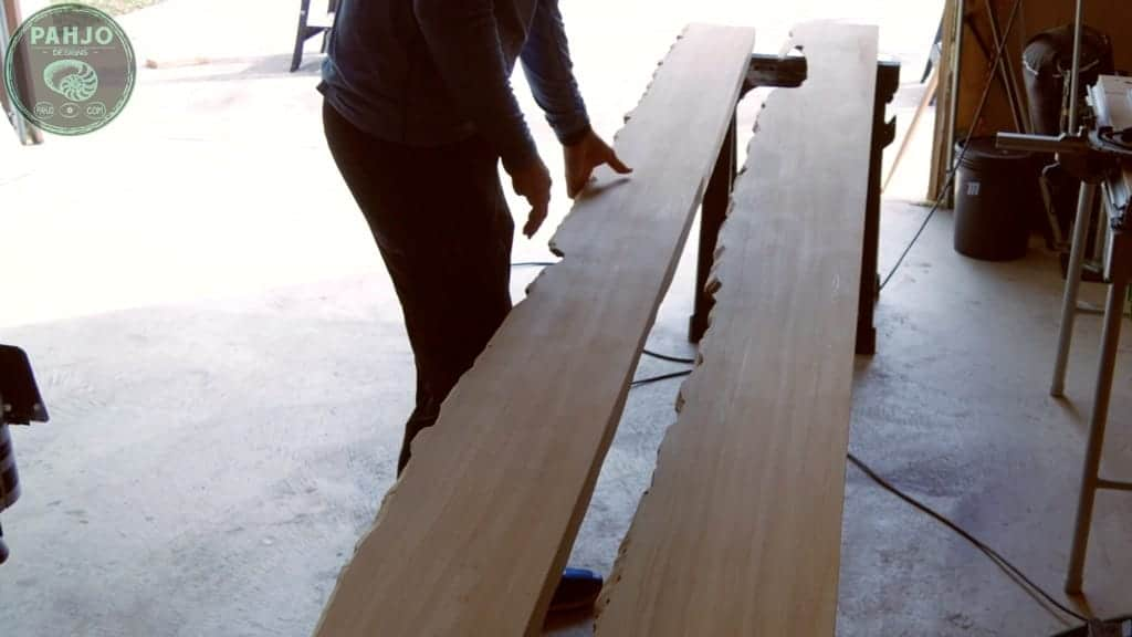 Live Edge Wood for Outdoor Bar Top