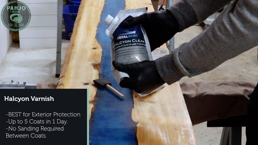 apply halcyon varnish